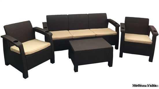 Комплект мебели для отдыха  Yalta Terrace Set Max фото