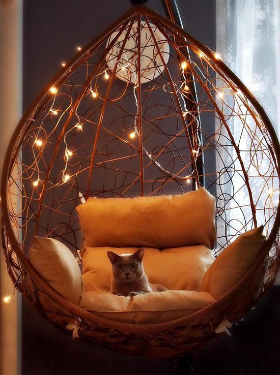 Фото №16 Подвесное кресло-кокон SEVILLA горячий шоколад + каркас