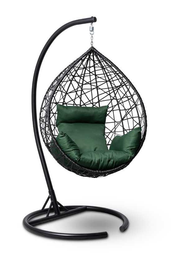 Подвесное кресло-кокон ALICANTE черное + каркас фото