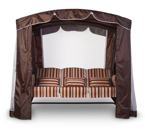 Фото №12 Тент-шатер для садовых качелей (с дугообразной крышей)