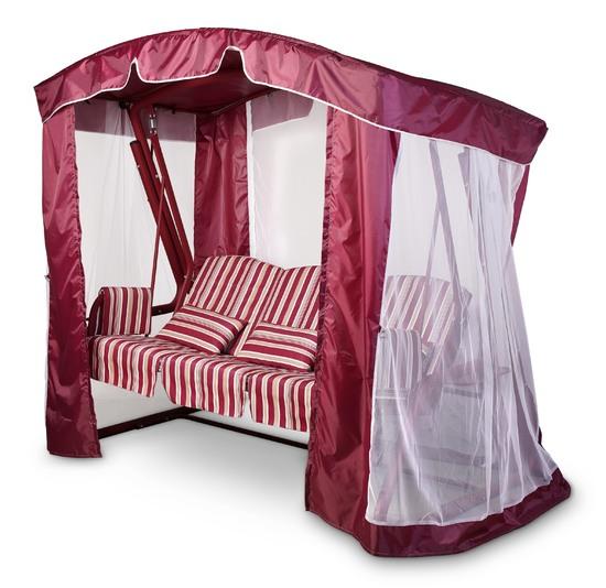 Тент-шатер для садовых качелей (с дугообразной крышей)