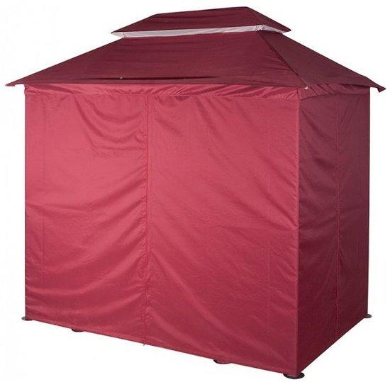 Тент-крыша с чехлом от дождя на качели-беседка