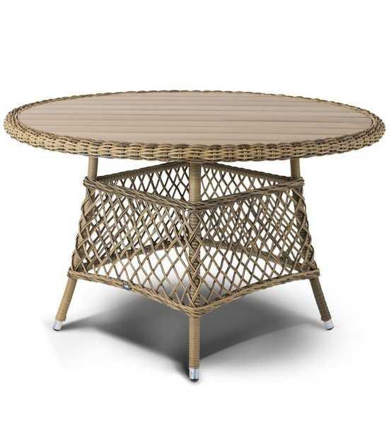 Стол обеденный Равенна из искусственного ротанга фото