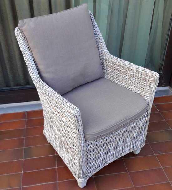 Кресло из искусственного ротанга ТОСКАНА в комплекте с подушками фото