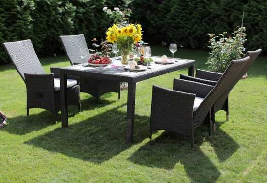 Комплект садовой мебели из ротанга Lavras 165 (стол + 4-6 кресел) фото