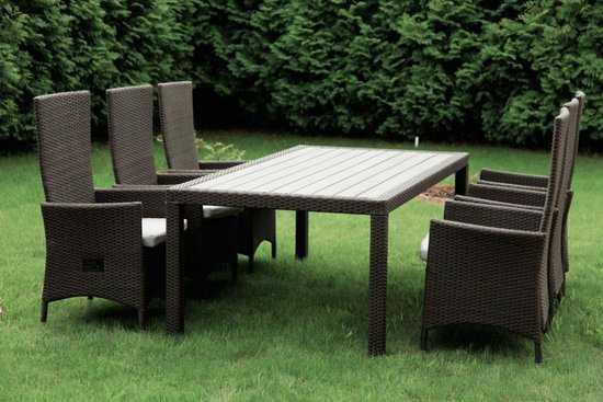 Комплект садовой мебели из ротанга Lavras 205 (стол + 6-8 кресел) фото