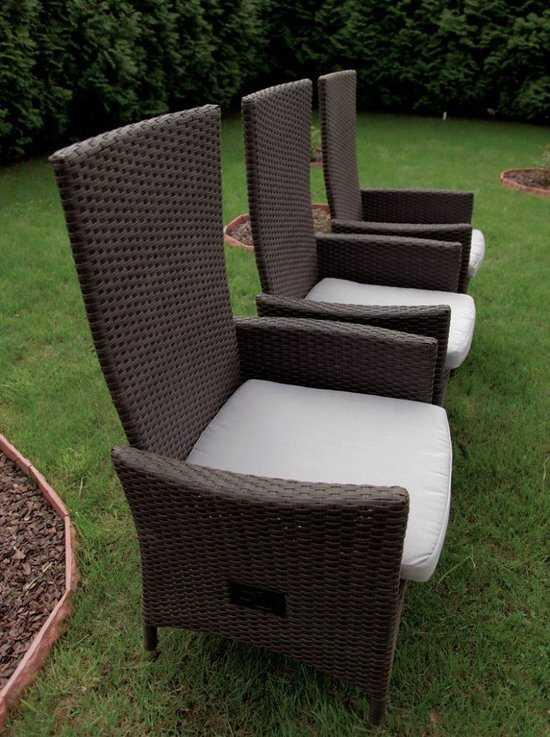 Раскладное кресло из ротанга LAVRAS с регулируемой спинкой фото