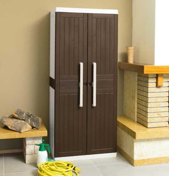 Пластиковые шкаф 2-х дверный с 3 полками фото