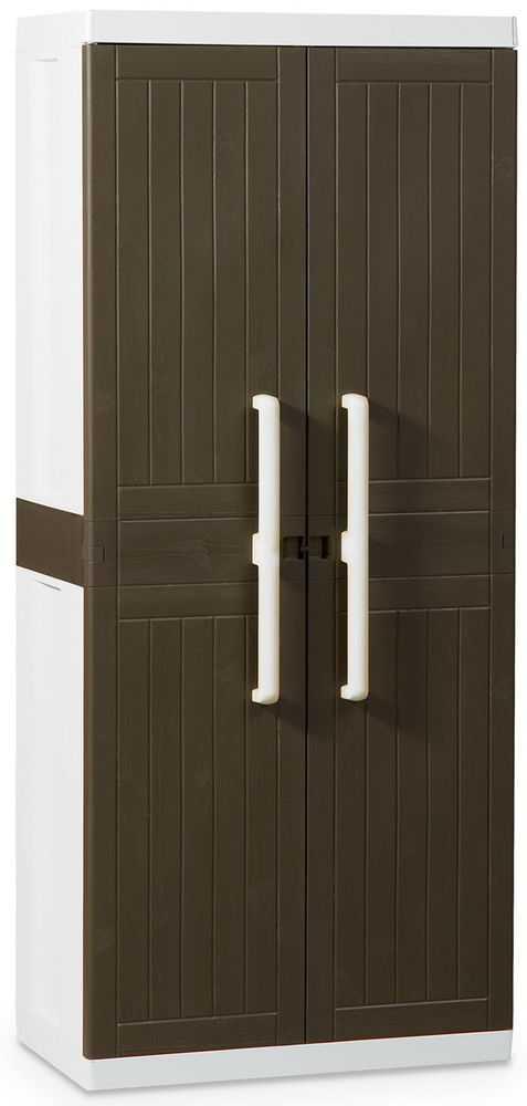 Пластиковый шкаф (глубокий) 2-х дверный с 4 полками 247 фото