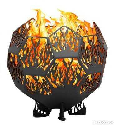 Очаг сферический «Пламя» (Металекс) фото