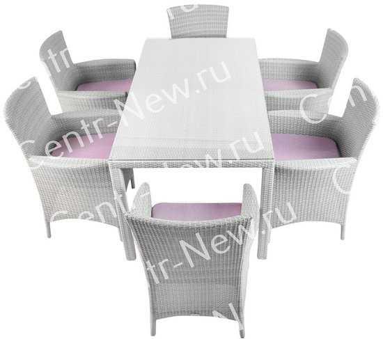 Комплект мебели обеденный Мирисса из искусственного ротанга (серый) фото