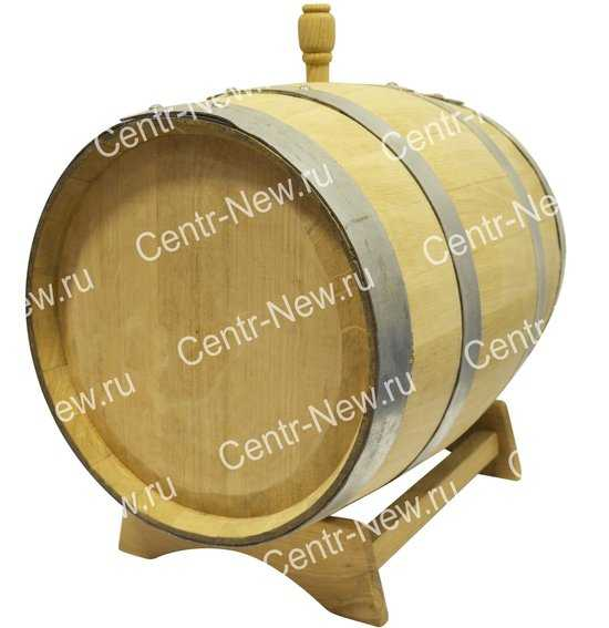 Дубовая бочка 3 литра без крана (Кавказский дуб) фото