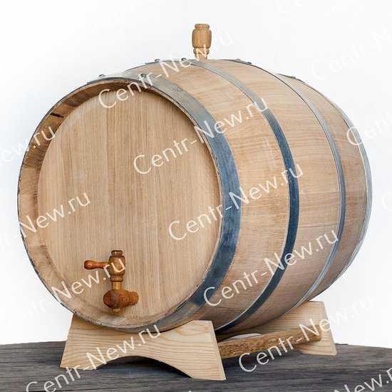 Фото №2 Дубовая бочка 25 литров (Колотый дуб) + кран