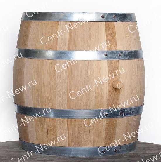 Дубовая бочка 100 литров (Колотый дуб) фото