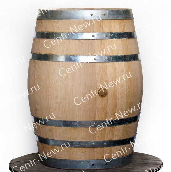 Дубовая бочка 225 литров (Колотый дуб) фото