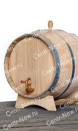 Фото №3 Дубовая бочка 10 литров (Колотый дуб) + кран
