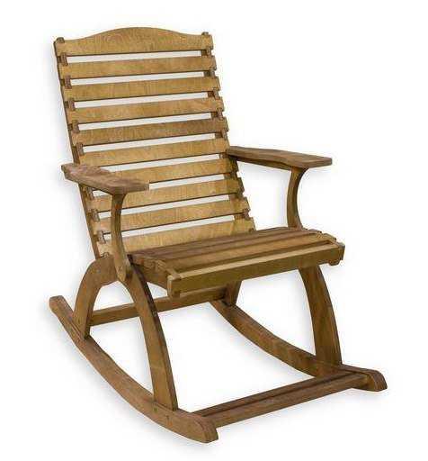Фото №2 Деревянное кресло-качалка ГРАНД