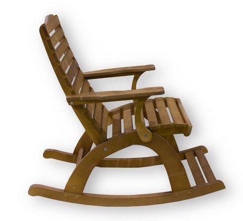 Фото №3 Деревянное кресло-качалка ГРАНД