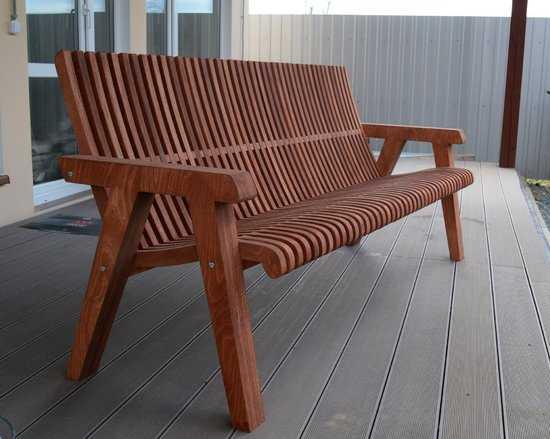 Фото №2 Деревянная скамейка ЛАМЕЛЬ