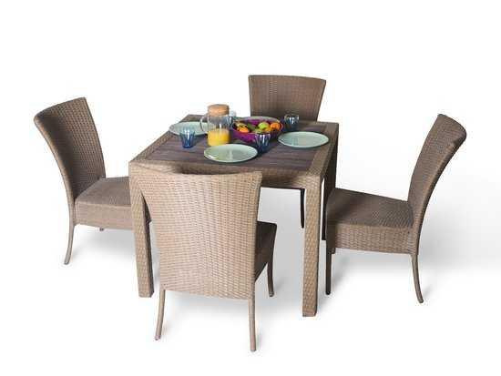 Фото №4 Обеденный комплект cо стульями (квадратный стол) КРИТ