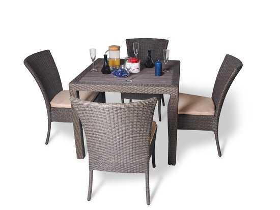 Фото №3 Обеденный комплект cо стульями (квадратный стол) КРИТ
