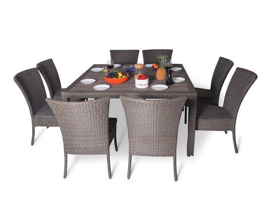 Обеденный комплект cо стульями (квадратный стол) КАПРИ фото