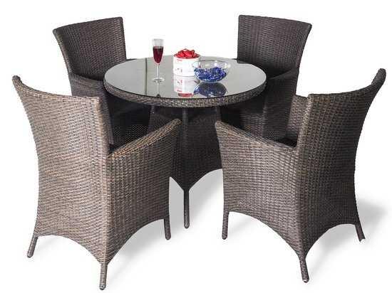 Обеденный комплект с креслами на 4 человека (круглый стол) фото