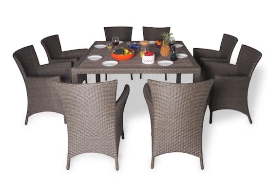 Обеденный комплект с креслами (квадратный стол) КАПРИ фото