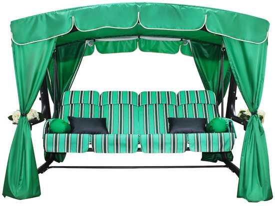 Садовые качели четырехместные ЭДЕМ 76 (зеленый) фото