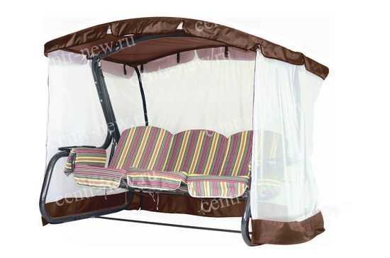 Тент крыша + москитная сетка для садовых качелей (с дугообразной крышей)