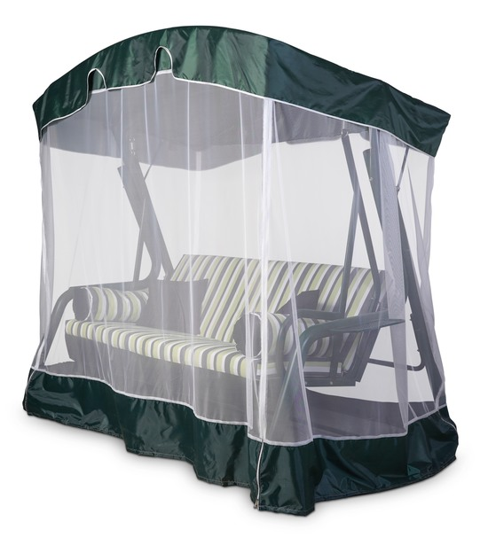 фото Тент крыша + москитная сетка для садовых качелей (с дугообразной крышей)