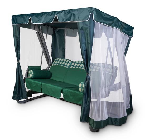 Фото №2 Тент-шатер для садовых качелей (с прямой крышей)