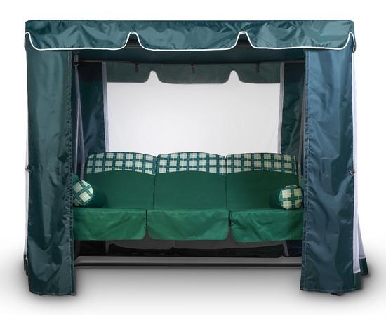 Тент-шатер для садовых качелей (с прямой крышей) фото