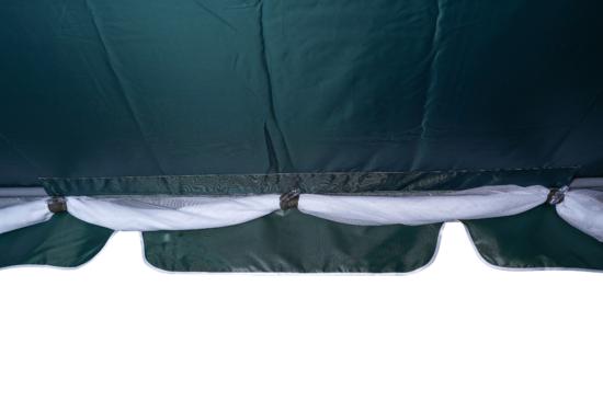 фото Тент-шатер для садовых качелей (с прямой крышей)