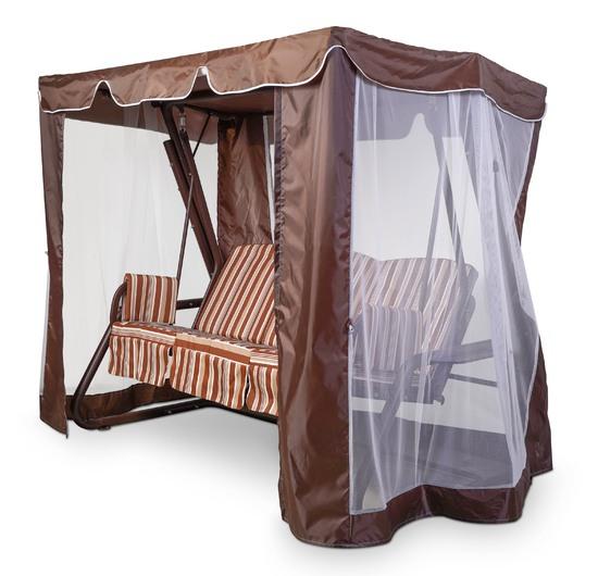 Фото №10 Тент-шатер для садовых качелей (с прямой крышей)