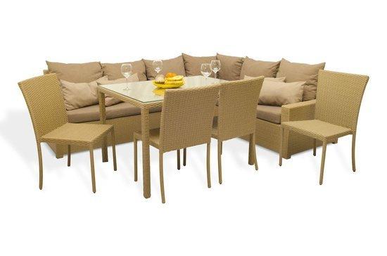 Комплект мебели ФИДЖИ угловой со столом и стульями фото