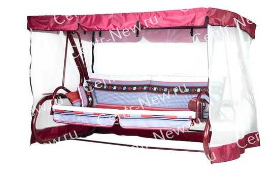 Тент крыша + москитная сетка для садовых качелей Капри фото