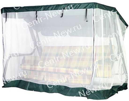 Москитная сетка на молнии для садовых качелей Торнадо +10 фото