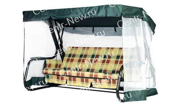 Чехол-москитная сетка 2в1 для садовых качелей Нирвана с прямой крышей) фото