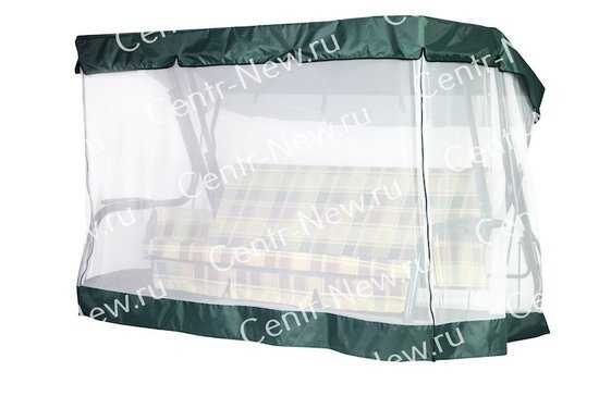 Чехол-москитная сетка 2в1 для садовых качелей 76-е с прямой крышей) фото