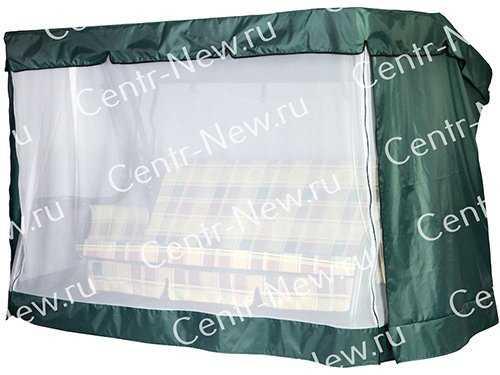 Чехол-москитная сетка 2в1 для садовых качелей Мастак с прямой крышей) фото