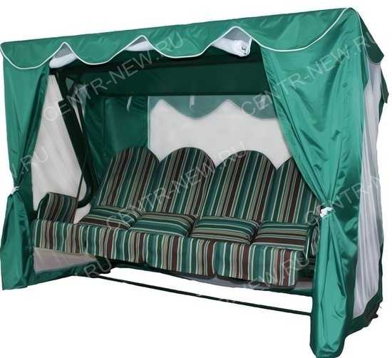 Тент-шатер для садовых качелей Элит Люкс Плюс (с прямой крышей) фото
