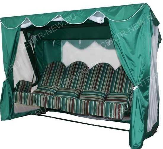 Тент-шатер для садовых качелей Люкс 2 (с прямой крышей) фото