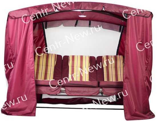 Тент-шатер для садовых качелей Монарх (с дугообразной крышей) фото