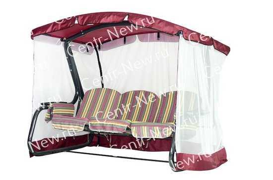 Тент крыша + москитная сетка для садовых качелей Сорренто (с дугообразной крышей) фото