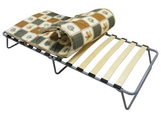 Кровать раскладная КАМИЛЛА (на ламелях) с матрасом в сумке фото