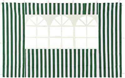 4110 Стенка зеленая с окном для садового тента  фото