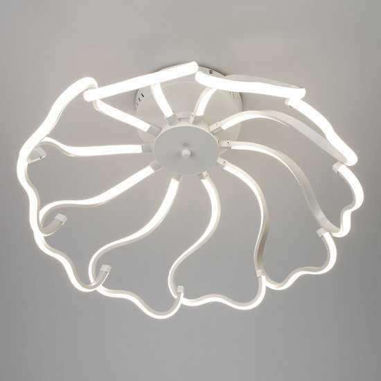 Светодиодный потолочный светильник 90095/10 белый фото