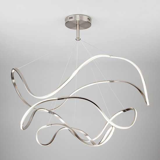 Светодиодный подвесной светильник 90109/3 сатин-никель фото