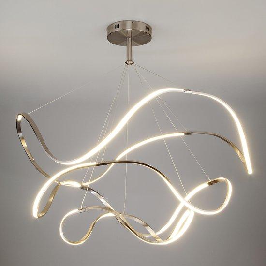 Фото №3 Светодиодный подвесной светильник 90109/3 сатин-никель